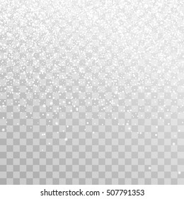 Falling Christmas Shining transparent beautiful snow isolated on transparent background. Snowflakes, snowfall. snowflake vector.