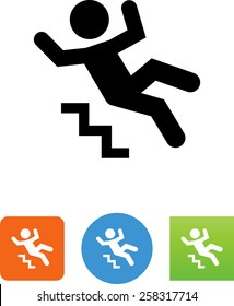 Falling down stairs icon