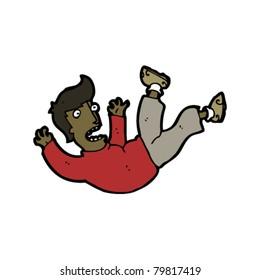 falling man cartoon