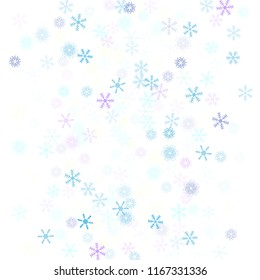 Falling snow confetti, snowflakes vector element. Festive winter, Christmas, New Year party pattern. Cold weather, winter storm, sparkling texture. Vintage snowfall falling snowflakes confetti