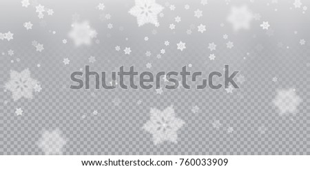 falling snowflake pattern background white cold stock vector