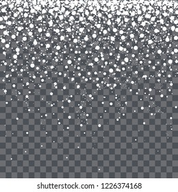 Falling snowflakes, vector illustration.