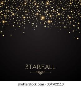 Falling Stars Abstract Background. Light Curtain. Vector illustration.