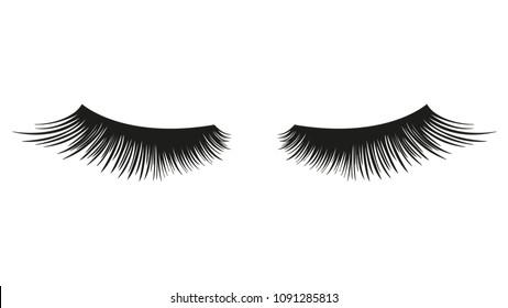 False eyelashes. vector element.