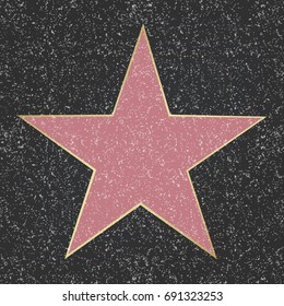 Fame Star, With Gradient Mesh, Vector Illustration