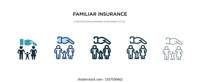 familiar insurance icon in different style vector illustration. two colored and black familiar insurance vector icons designed in filled, outline, line and stroke style can be used for web, mobile,