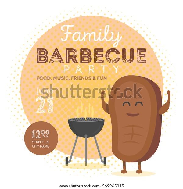 Barbecue Invitation Template from image.shutterstock.com