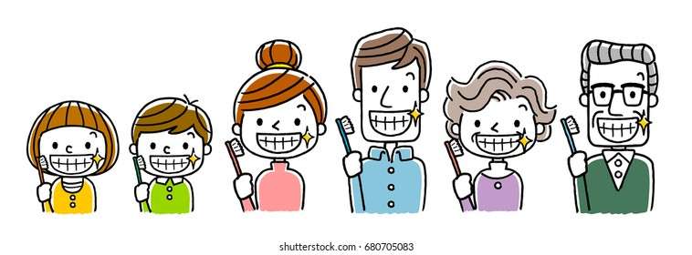 family with beautiful teeth