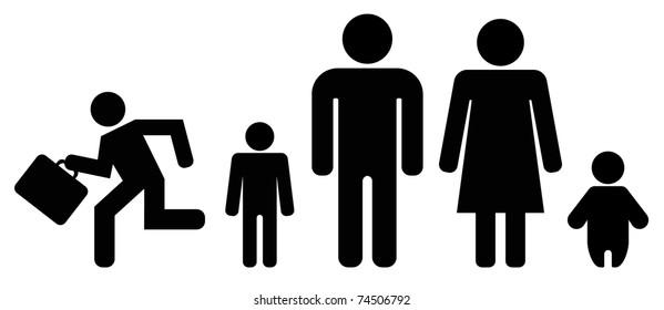 family black icon set