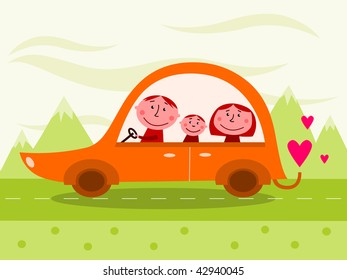 Family car - vector
