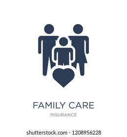 Family Care icon. Trendy flat vector Family Care icon on white background from Insurance collection, vector illustration can be use for web and mobile, eps10