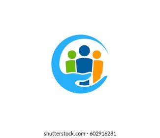 Family Care Logo Design Element