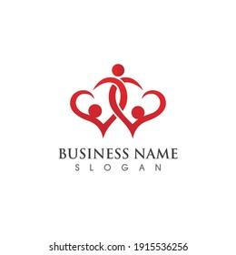 Family care symbol logo vector image