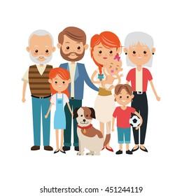 cartoon family images stock photos vectors shutterstock rh shutterstock com family picture cartoon gif family cartoon picture app