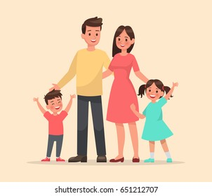 family character vector design set