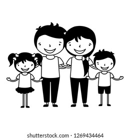 family characters cartoon