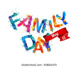 Family day. May 15. Holiday card