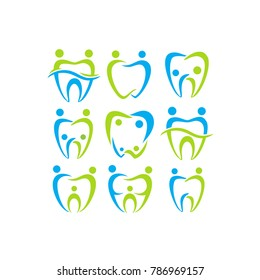 family dental. dental logo. human. icon. vector.