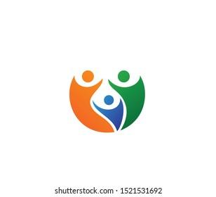 Family design logo sign icon