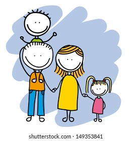 family design over white background vector illustration