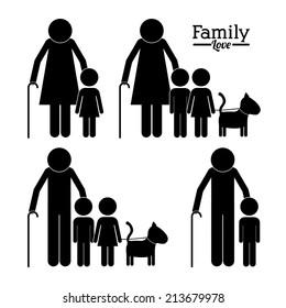 Family design over white background,vector illustration