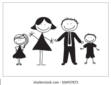 Draw Family Picture Art
