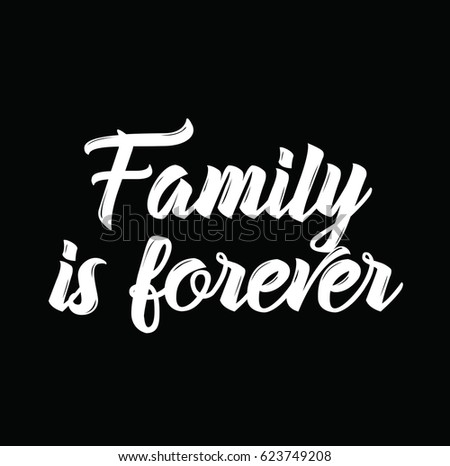 Family Forever Text Design Vector Calligraphy Stock Vector Royalty