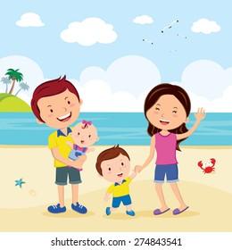 Family fun at the beach. Family having fun at the beach.