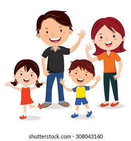 Family fun. Family. Happy family gesturing with cheerful smile.
