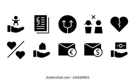 Family glyph icon symbol set