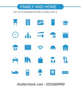 Family and Home icon set
