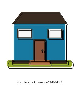 family home or one story house icon image