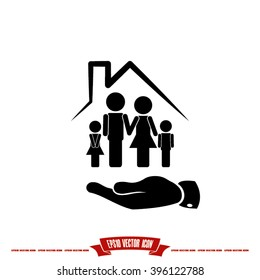 Family House icon vector illustration eps10.