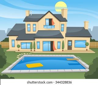 Family House vector cartoon