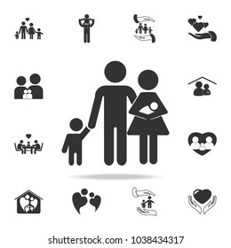 family Icon. Detailed set of family icons. Premium quality graphic design. One of the collection icons for websites, web design, mobile appfamily on white background