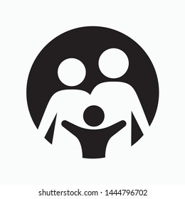 Family icon. flat illustration of Family vector icon for web
