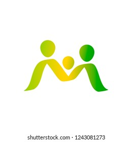 Family icon isolated. Parents symbol for web site design, logo, app, UI. Vector illustration.