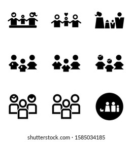 family icon isolated sign symbol vector illustration - Collection of high quality black style vector icons