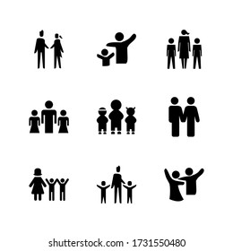 family  icon or logo isolated sign symbol vector illustration - Collection of high quality black style vector icons