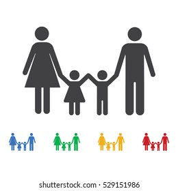 Family Icon. Set of icons