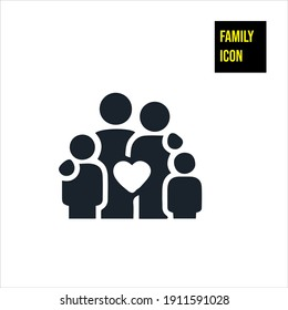 Family Icon stock illustration. Family, together