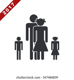 Family Icon Vector flat design style