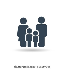 Family Icon Vector . Flat Sign for using in the App, UI, Art, Logo, Web.