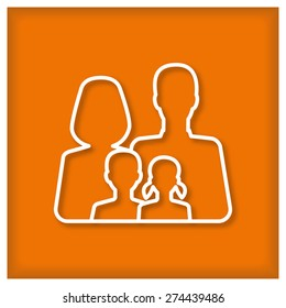 Family Icon.  Vector illustration for posters, banners, signs, icons, web design and stickers