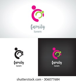 Family logo concept, take care
