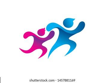 Family logo symbol or icon template