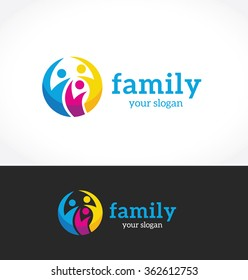 Family logo template