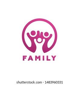 Family Logo Template Design Vector, Emblem, Design Concept, Creative Symbol, Icon