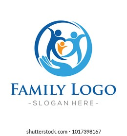 Family and Family Love, Health care Logo Vector