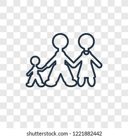 Family man concept vector linear icon isolated on transparent background, Family man concept transparency concept in outline style